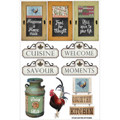 "Signage - Country Kitchen Stickers 8""X5.25"""