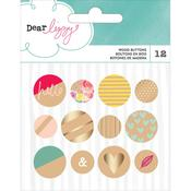 Documentary Wood Buttons - Dear Lizzy