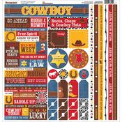 Cowboy Cardstock Multi Stickers - Reminisce