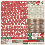 Dear Santa Alpha Sticker Sheet - Photoplay