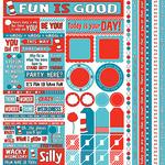 Wacky & Wild Multi Cardstock Sticker Sheet - Reminisce