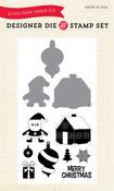 Santa's Village Die & Stamp Set - Echo Park