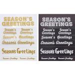 Season's Greetings Rub-ons - Little B