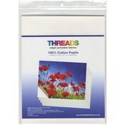 "100% Cotton Poplin - THREADS Inkjet Printable Fabric Sheets 8.5""X11"" 6/Pkg"