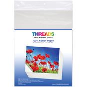 "100% Cotton Poplin - THREADS Inkjet Printable Fabric Sheets 8.5""X11"" 30/Pkg"