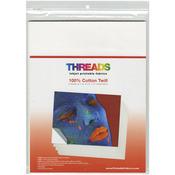 "100% Cotton Twill - THREADS Inkjet Printable Fabric Sheets 8.5""X11"" 6/Pkg"