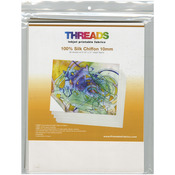 "100% Silk Chiffon - THREADS Inkjet Printable Fabric Sheets 8.5""X11"" 30/Pkg"