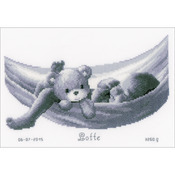 "10.5""X7.5"" 14 Count - Baby In Hammock Birth Record On Aida Counted Cross Stitch Ki"