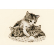 "9""X8"" 14 Count - Three Little Kittens On Aida Counted Cross Stitch Kit"