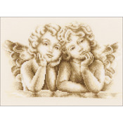 "10""x7.25"" 14 Count - Dreaming Angels On Aida Counted Cross Stitch Kit"