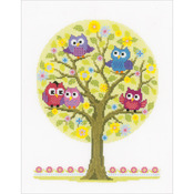 "9""X11.75"" 14 Count - Little Owls Tree On Aida Counted Cross Stitch Kit"