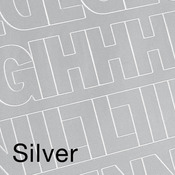 """Silver .5"""" - Permanent Adhesive Vinyl Letters & Numbers 852/Pkg"""