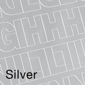 """Silver .75"""" - Permanent Adhesive Vinyl Letters & Numbers .75"""" 302/Pkg"""