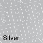 """Silver - Permanent Adhesive Vinyl Letters & Numbers 1"""" 183/Pkg"""