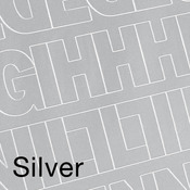 """Silver - Permanent Adhesive Vinyl Letters & Numbers 2"""" 167/Pkg"""