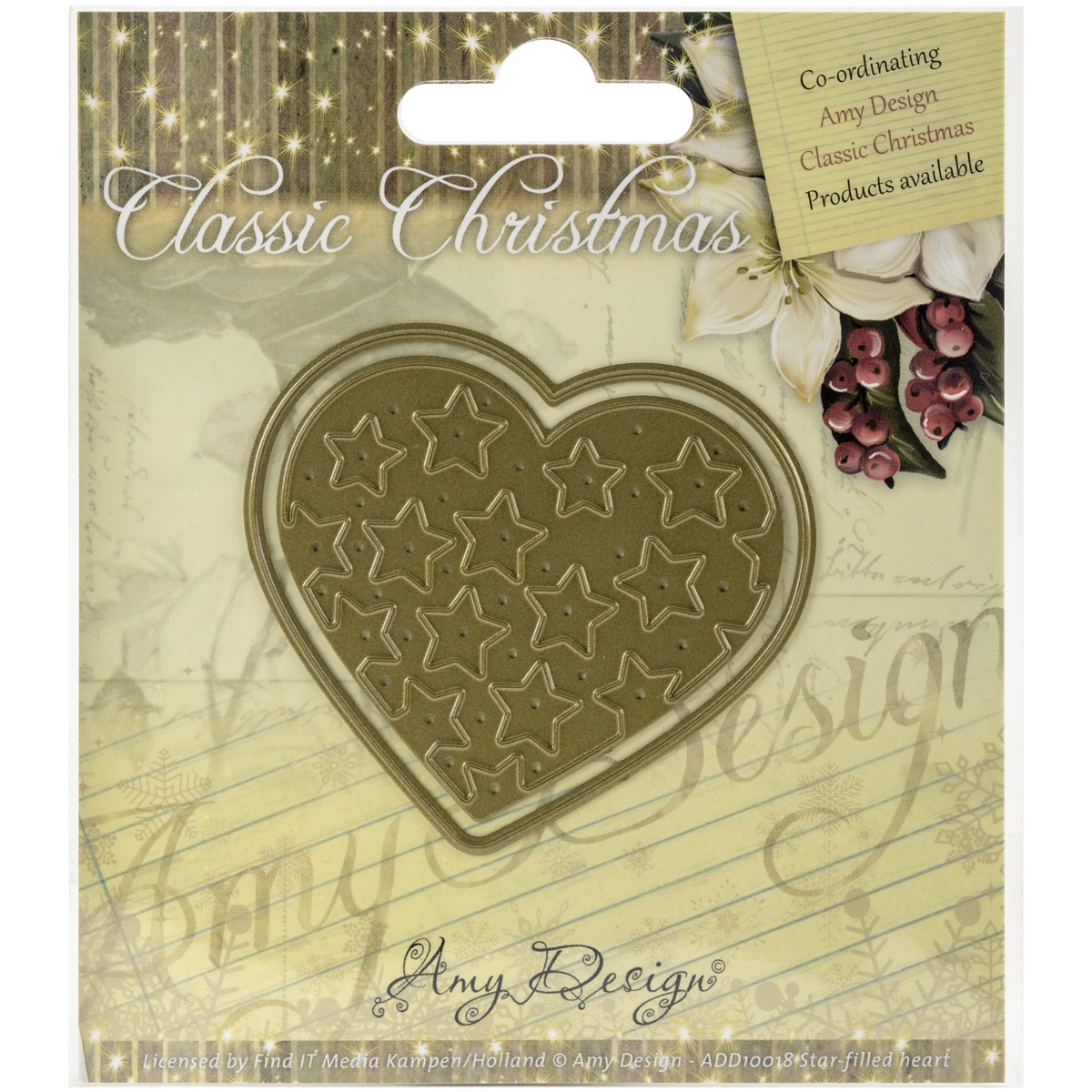 Star-Filled Heart - Find It Trading Amy Design Classic Christmas Die
