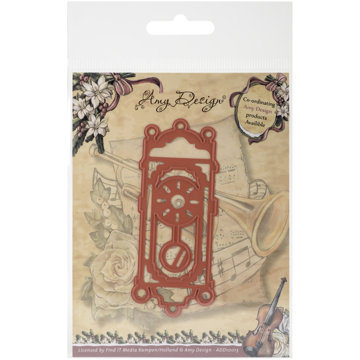 Old-Fashioned Clock - Find It Trading Amy Design Vintage Christmas Die