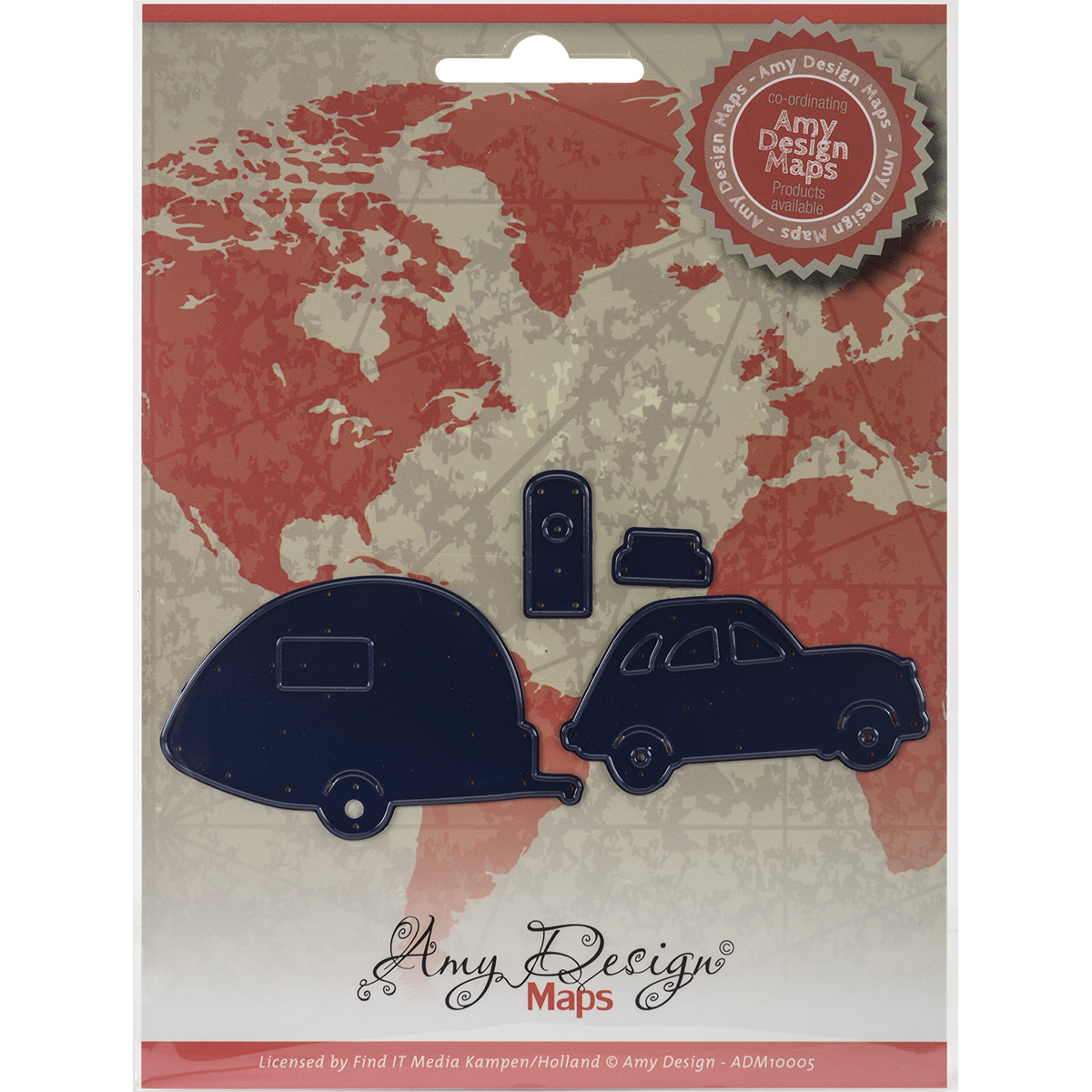 Car W/Camper - Find It Trading Amy Design Map Die