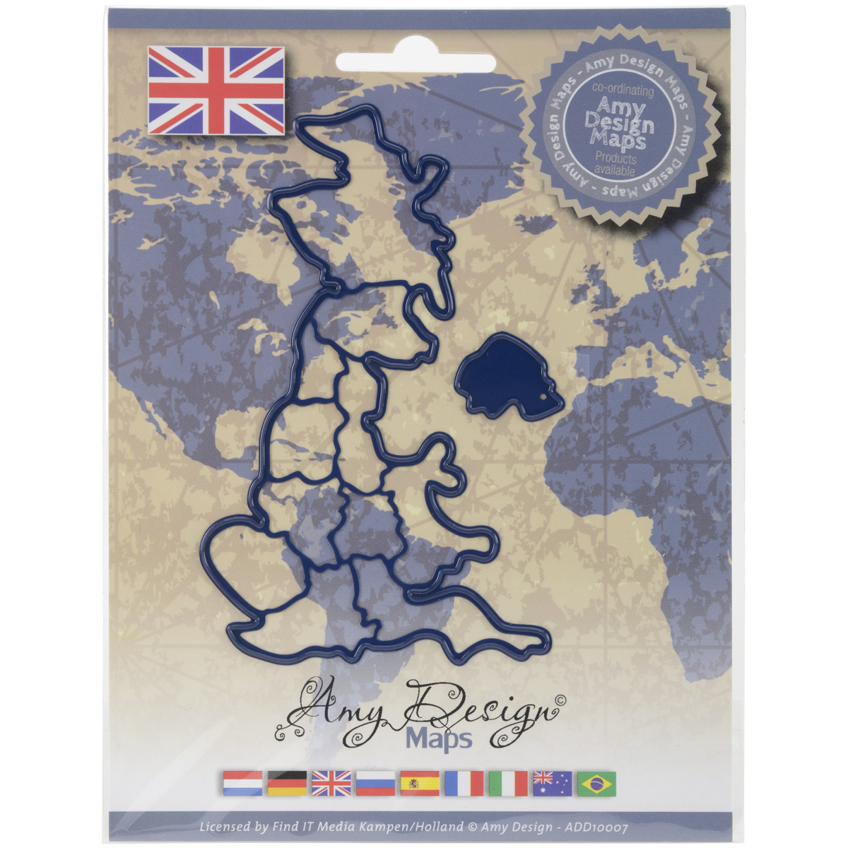 United Kingdom - Find It Trading Amy Design Map Die