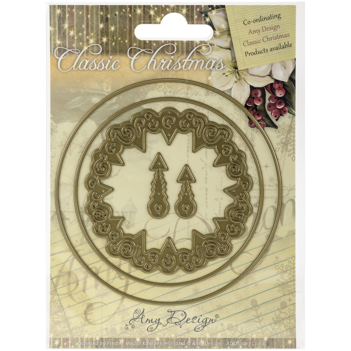 Clock - Find It Trading Amy Design Classic Christmas Die
