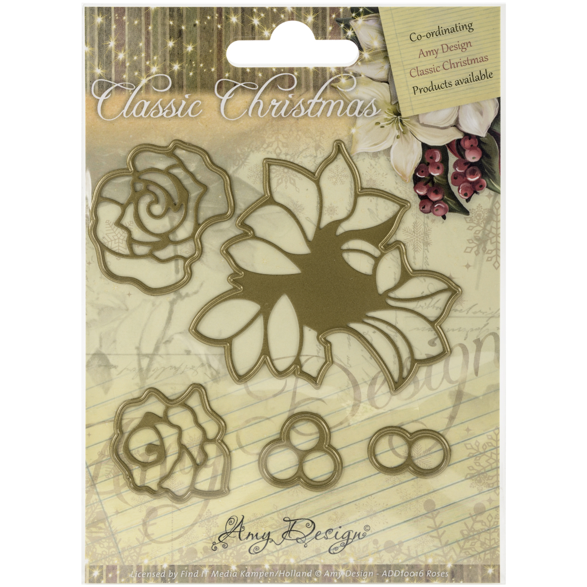 Roses - Find It Trading Amy Design Classic Christmas Die
