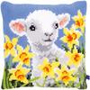 """15.75""""X15.75"""" - Lamb Cushion Cross Stitch Kit"""