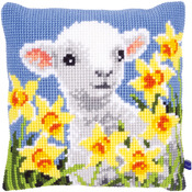 "15.75""X15.75"" - Lamb Cushion Cross Stitch Kit"