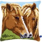 "15.75""X15.75"" - Horses Cushion Cross Stitch Kit"