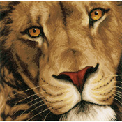 "13.75""X13.5"" 14 Count - LanArte King Of Animals On Aida Counted Cross Stitch Kit"