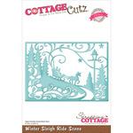 """Winter Sleigh Ride Scene 5""""X3.575"""" - CottageCutz Elites Die"""