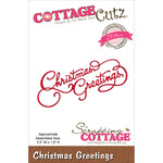 "Christmas Greetings 3.5""X1.9"" - CottageCutz Elites Die"
