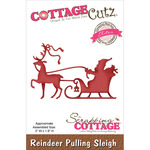 "Reindeer Pulling Sleigh 3""X1.9"" - CottageCutz Elites Die"