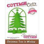 "Christmas Tree In Window 2.5""X3.5"" - CottageCutz Elites Die"