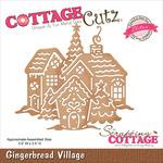 """Gingerbread Village 3.9""""X3.5"""" - CottageCutz Elites Die"""