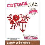 """Lantern & Poinsettia 3.6""""X2.9"""" - CottageCutz Elites Die"""