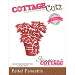 "Potted Poinsettia 2.5""X2.8"" - CottageCutz Elites Die"