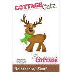"""Reindeer W/Scarf 2""""X2.8"""" - CottageCutz Die"""