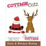 """Santa/Reindeer Resting 2""""X2"""" & 1.7""""X3"""" - CottageCutz Die"""