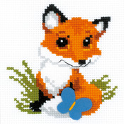 "6""X6"" 10 Count - Little Fox Counted Cross Stitch Kit"