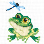 "6""X6"" 10 Count - Little Frog Counted Cross Stitch Kit"