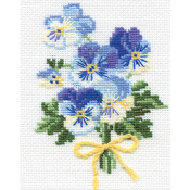 "5""X6.25"" 16 Count - Violas Counted Cross Stitch Kit"