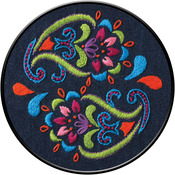 """6"""" Round - Bohemian Paisley Stamped Embroidery Kit"""