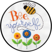 "8"" Round - Bee Yourself Stamped Cross Stitch Kit"