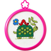 "3"" Round 14 Count - My 1st Stitch Turtle Mini Counted Cross Stitch Kit"