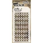 """Argyle - Tim Holtz Layered Stencil 4.125""""X8.5"""""""