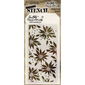 "Poinsettia - Tim Holtz Layered Stencil 4.125""X8.5"""
