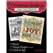 "Christmas Greetings - Hot Off The Press Colorist Coloring Book 5""X6"""