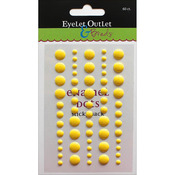 Bright Yellow - Eyelet Outlet Adhesive-Back Enamel Dot 60/Pkg