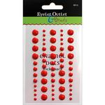 Red - Eyelet Outlet Adhesive-Back Enamel Dot 60/Pkg