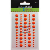 Orange - Eyelet Outlet Adhesive-Back Enamel Dot 60/Pkg